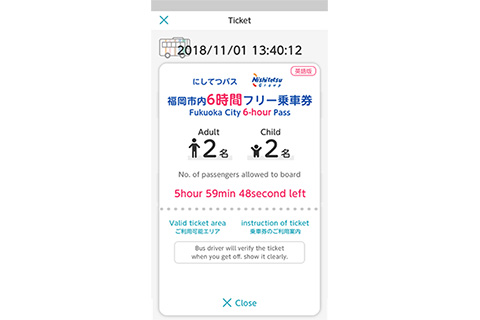 Fukuoka City Six-hour Pass