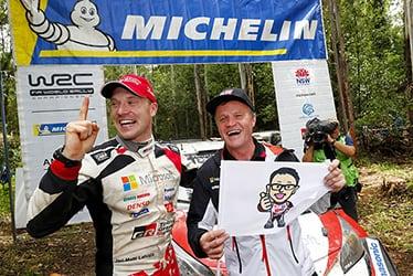 【ドライバー】ヤリ-マティ・ラトバラ/【チーム代表】トミ・マキネン 2018 WRC Round 13 Rally Australia