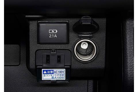 アクセサリーソケット&アクセサリーコンセント&充電用USB端子
