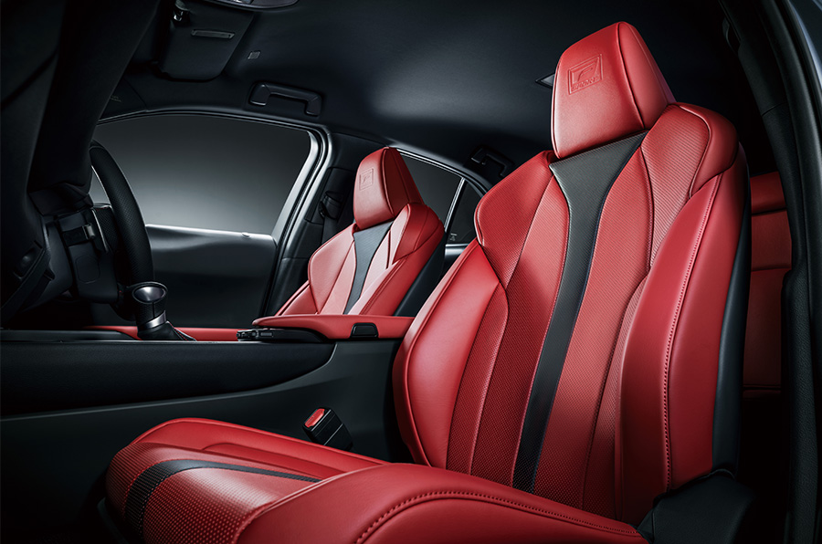 UX 200 F SPORT (Interior color: F Sport Flare Red). Options shown.