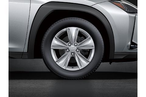 215/60R17 タイヤ&エアロベンチレーティングアルミホイール (シルバーメタリック塗装)