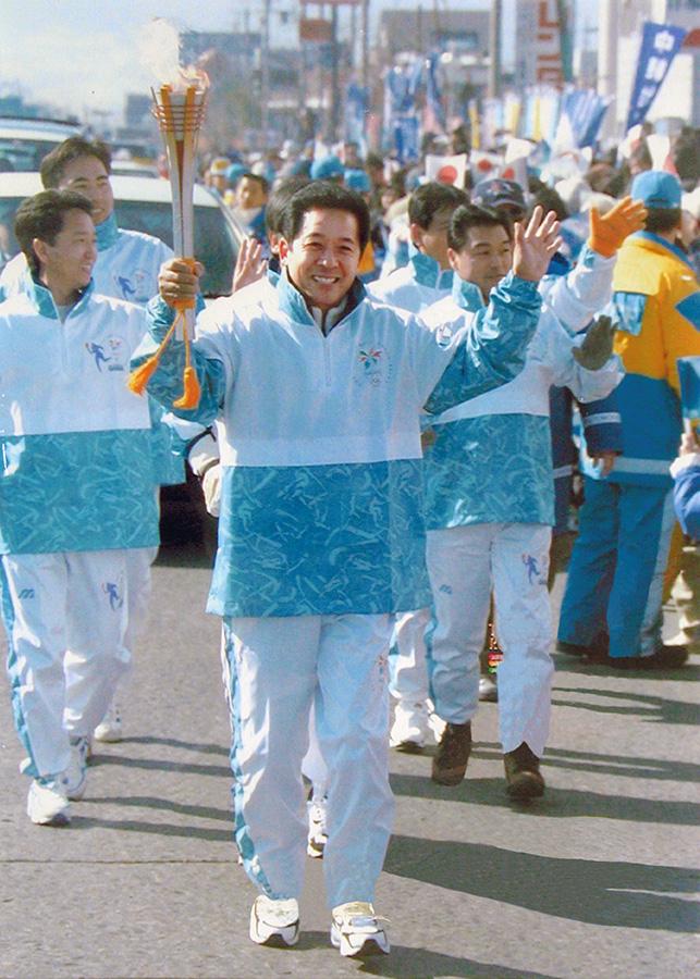 Kawai EVP at Nagano 1998 Olympic Torch Relay 20 years ago