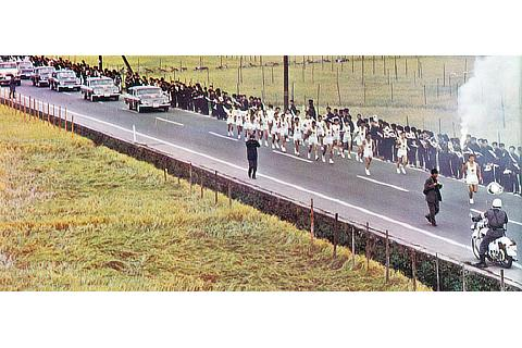 Toyota vehicles from Tokyo 1964 Olympic Torch Relay