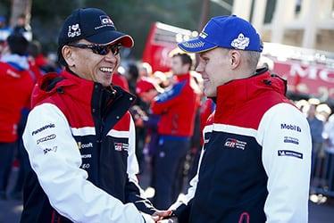 【GAZOO Racing Company President】友山 茂樹/【ドライバー】オィット・タナック 2019 WRC Round 1 Rallye Monte-Carlo