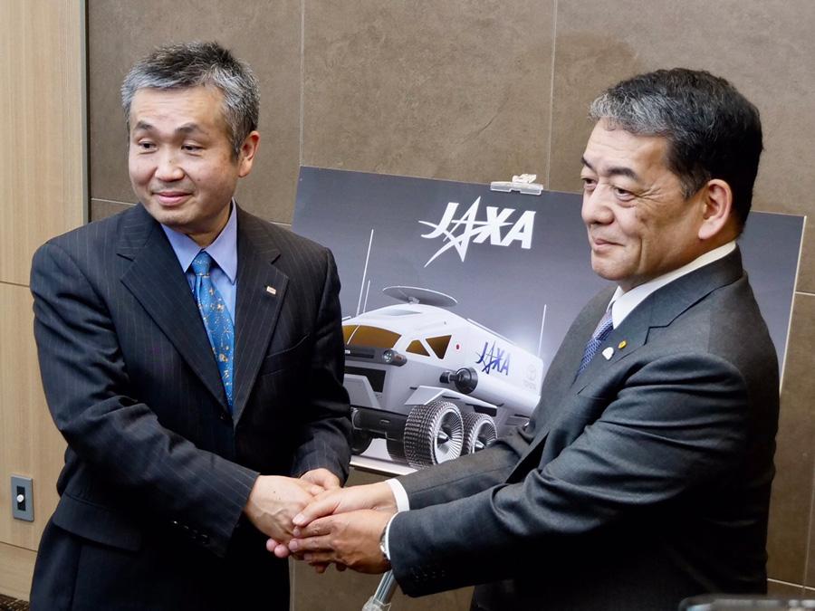 Koichi Wakata, JAXA Vice President and Astronaut / Shigeki Terashi, Toyota Executive Vice President
