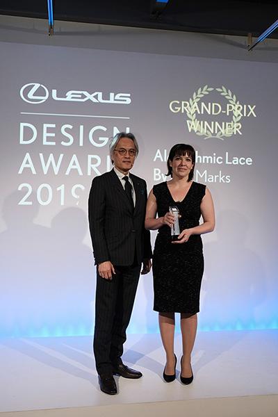 Right: Lisa Marks, Grand Prix Winner of Lexus Design Award 2019 Left: Yoshihiro Sawa