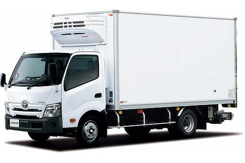 ダイナ TECS 中温冷凍車 ワイドキャブ・ロングボディ・フルジャストロー・2t積・ディーゼル車・2WD(ホワイト)<オプション装着車>