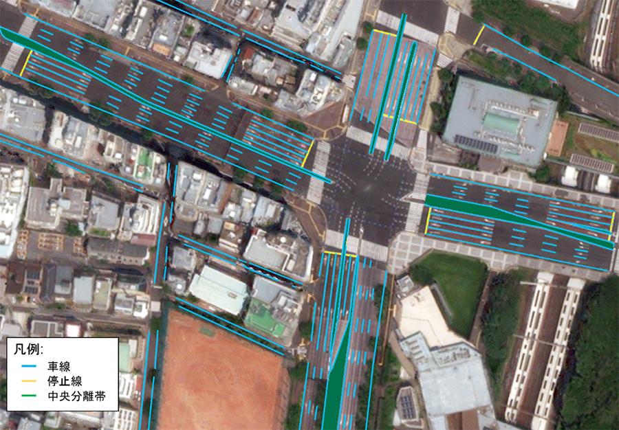 自動運転用の高精度地図の例