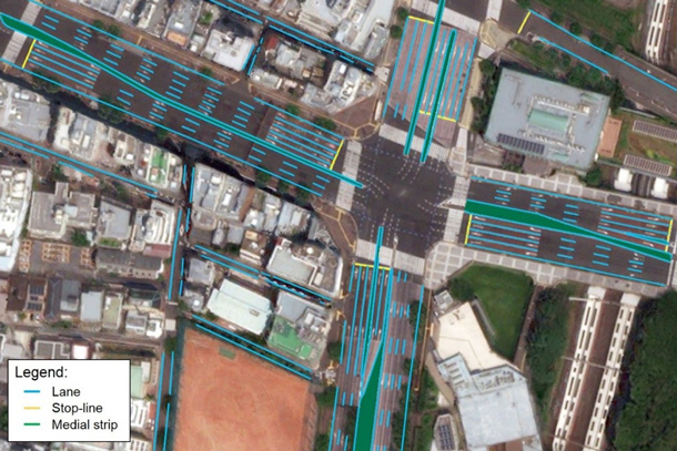 TRI-AD, Maxar Technologies and NTT DATA collaborate to build high-definition maps for autonomous vehicles from space