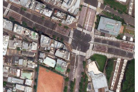 Example of Tokyo region satellite image