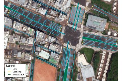 Example of high definition map for automated driving