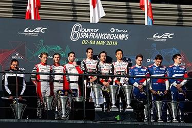 【チーム・ディレクター】ロブ・ロイペン/【ドライバー】セバスチャン・ブエミ/フェルナンド・アロンソ/中嶋 一貴 2018-19 WEC Round 7 Total 6 Hours of Spa-Francorchamps