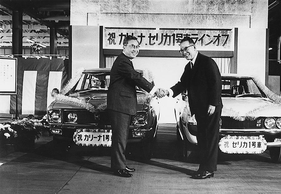 (トヨタ自動車 1970年「『セリカ』『カリーナ』第1号車ラインオフ」)