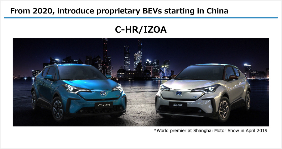 From 2020, introduce proprietary BEVs starting in China