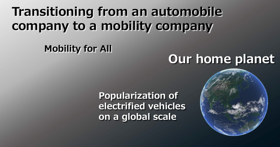Transitioning from an automobile company to a mobility company