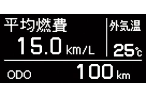 マルチインフォメーションディスプレイ 平均燃費