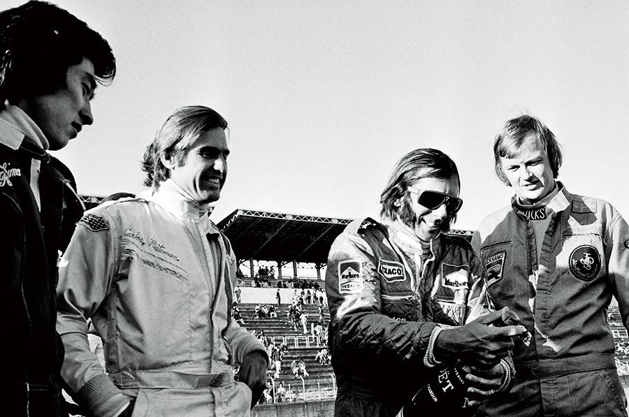 (写真協力/三栄)右からR・ピーターソン、E・フィッティパルディ、C・ロイテマン、桑島正美