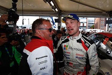 【チーム代表】トミ・マキネン/【ドライバー】ヤリ-マティ・ラトバラ 2019 WRC Round 9 Rally Finland