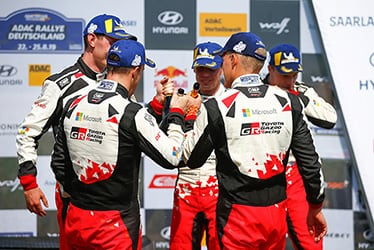 Seb Marshall / Kris Meeke / Miikka Anttila / Ott Tänak / Jari-Matti Latvala, driver; 2019 WRC Round 10 Rallye Deutschland
