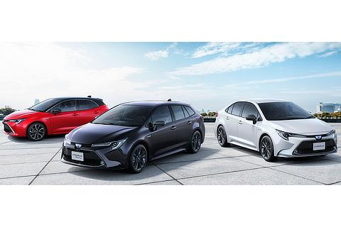 "Corolla Sport HYBRID G ""Z"" (2WD, options shown), Corolla Touring HYBRID WxB (2WD, options shown), Corolla HYBRID WxB (options shown)"