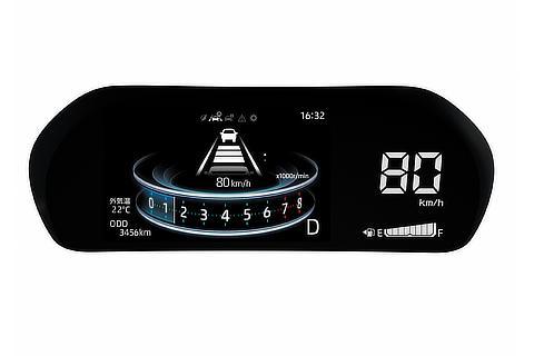 LEDデジタルスピードメーター+7インチTFTカラー液晶ディスプレイ(マルチインフォメーションディスプレイ付) 先進