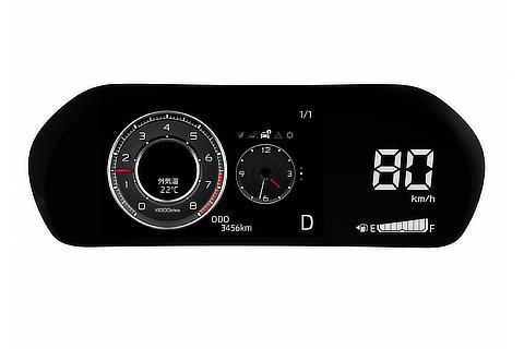 LEDデジタルスピードメーター+7インチTFTカラー液晶ディスプレイ(マルチインフォメーションディスプレイ付) アナログ