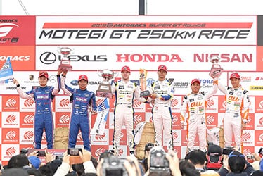 【ドライバー】山下 健太/大嶋 和也/ニック・キャシディ/平川 亮/関口 雄飛/中嶋 一貴 SUPER GT 第8戦 MOTEGI GT 250km RACE