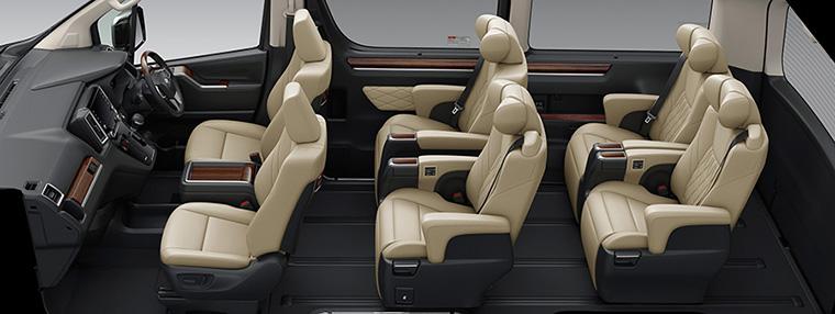Granace (three-row, six-seater model)