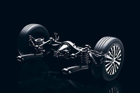 Trailing-link rigid-axle rear suspension