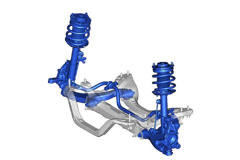 MacPherson strut-type front suspension