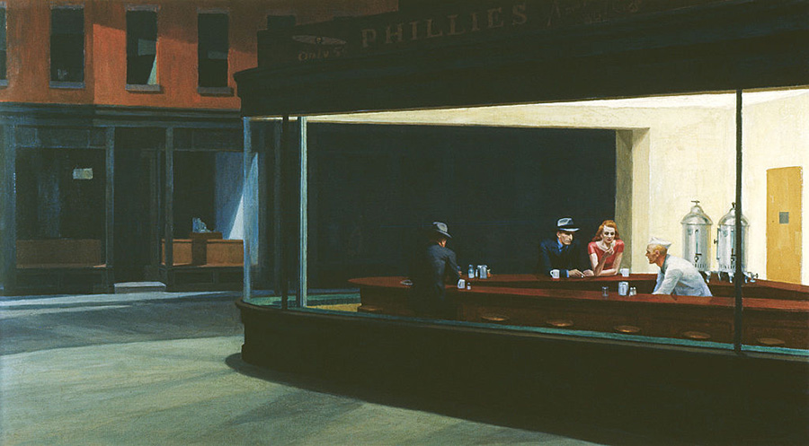 """Nighthawks"" by Edward Hopper, Getty Images"