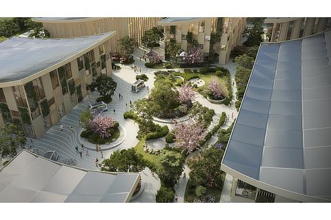 Overhead courtyard