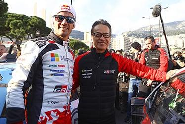 【ドライバー】セバスチャン・オジエ/【GAZOO Racing Company President】友山 茂樹 2020 WRC Round 1 Rallye Monte-Carlo