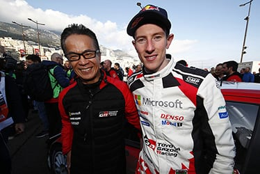 【GAZOO Racing Company President】友山 茂樹/【ドライバー】エルフィン・エバンス 2020 WRC Round 1 Rallye Monte-Carlo