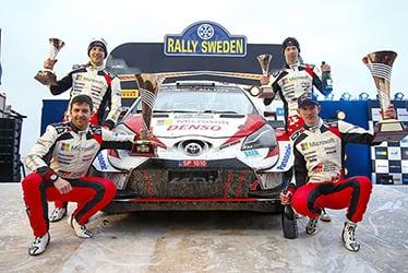 【ドライバー】エルフィン・エバンス/スコット・マーティン/カッレ・ロバンペラ/ヨンネ・ハルットゥネン 2020 WRC Round 2 Rally Sweden
