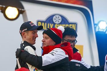 【ドライバー】エルフィン・エバンス/【チーム代表】トミ・マキネン 2020 WRC Round 2 Rally Sweden