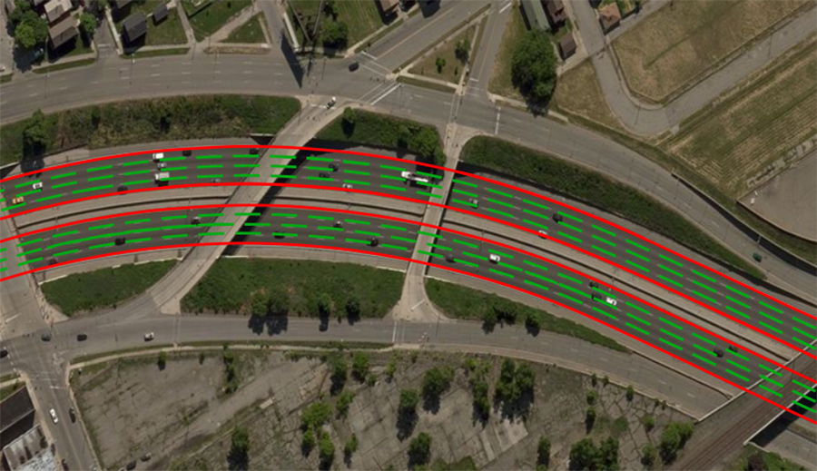 Image 6. Highly accurate HD Map lane markings