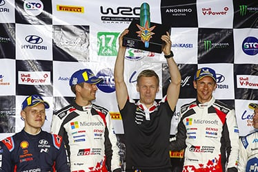 Sébastien Ogier, driver / Kaj Lindström, Sporting Director / Julien Ingrassia, driver; 2020 WRC Round 3 Rally Mexico