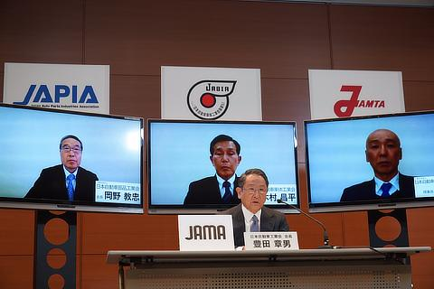 Joint press conference by Japan's four automobile manufacturers associations