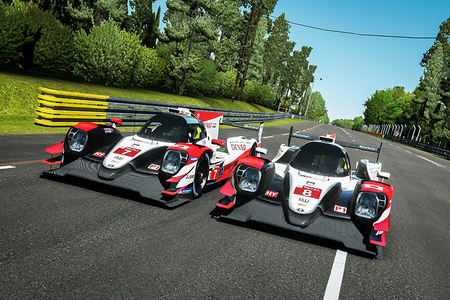 2019-2020 TS050 HYBRID colored virtual Race Car