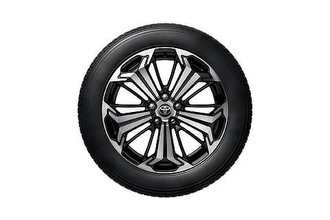 19-inch tire with aluminum wheel