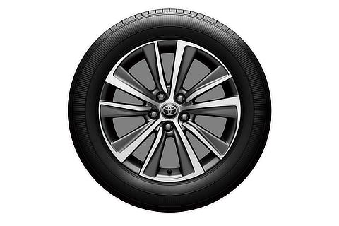 18-inch tire with aluminum wheel