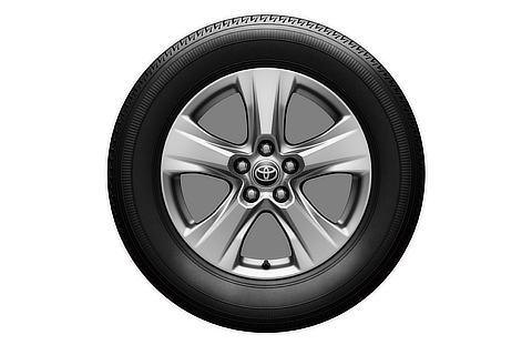 17-inch tire with aluminum wheel