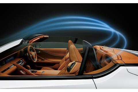 LC500 Convertible(ホワイトノーヴァガラスフレーク)<オプション装着車>