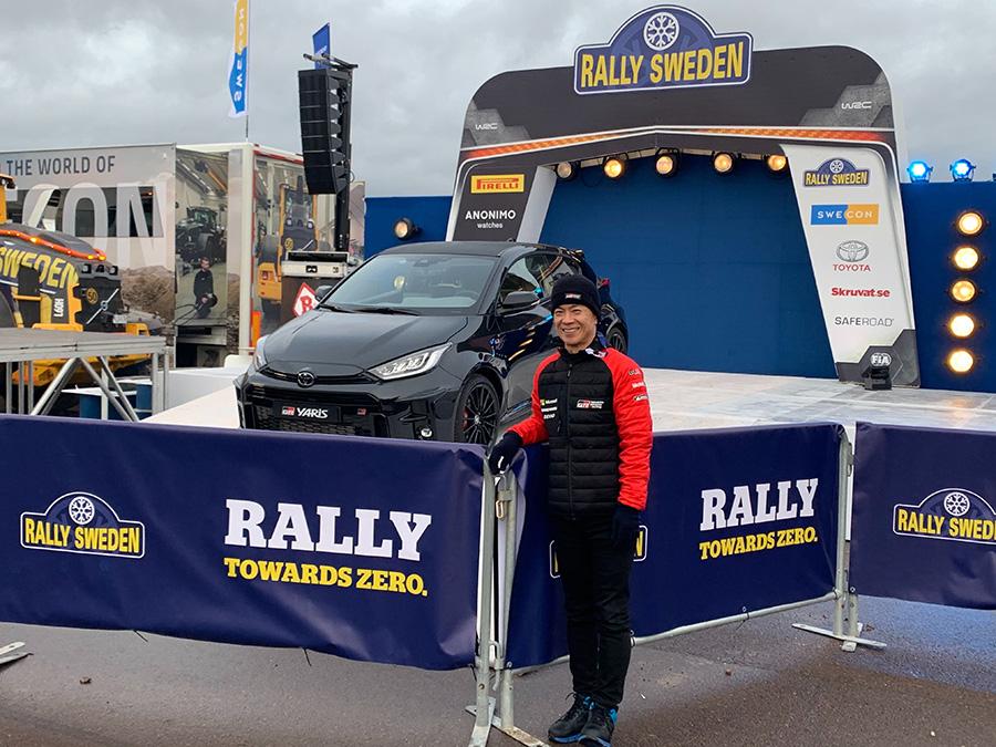WRCラリースウェーデンにてGRヤリスと