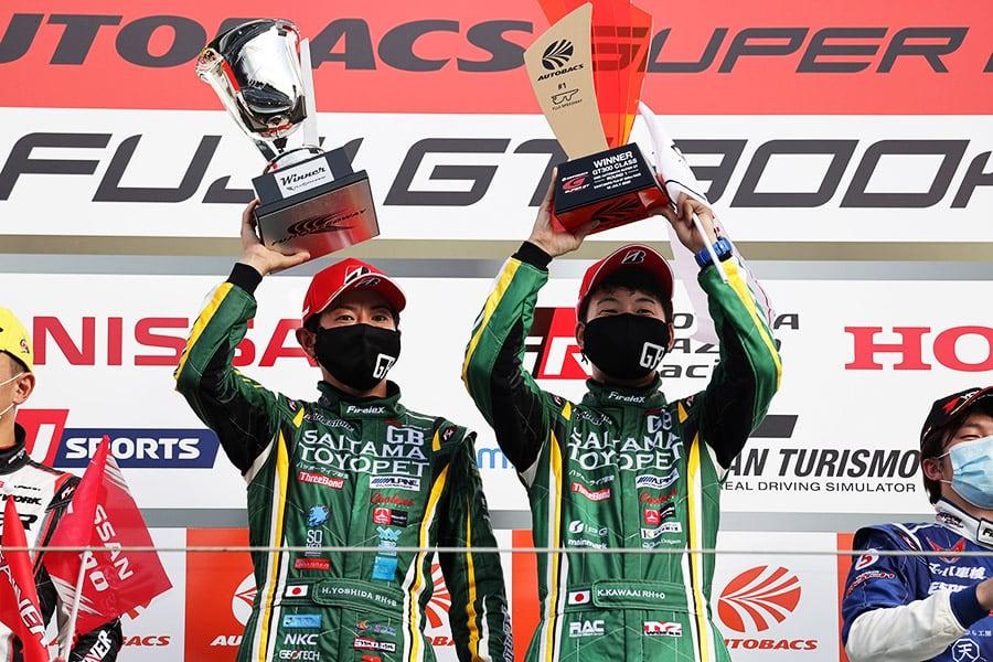 今季から新たにGT300クラスに参戦するGRスープラにデビューウィンをもたらすとともに、チームに取っても初優勝をもたらした埼玉トヨペットGB GR Supra GT(吉田 広樹/川合 孝汰)