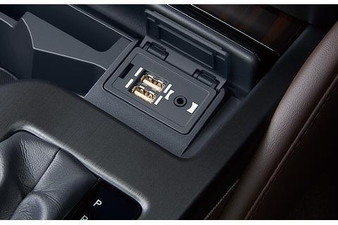 USB(2個)/AUX(音声)入力端子