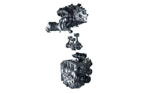 1.6-liter in-line three-cylinder intercooled turbo engine