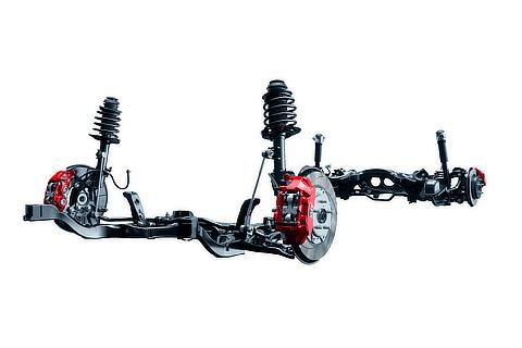 MacPherson struts suspension / Double wishbone suspension