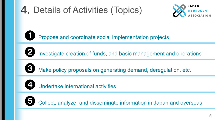4. Details of Activities (Topics)
